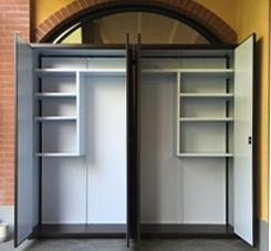 Produzione di armadietti da balcone e da interni a milano fsm armadi metallici - Ikea scarpiere da esterno ...